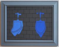 blue rest room