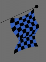 blue and black flag