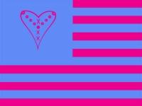 pink blue flag